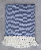Dunkelblau Herringbone Decken