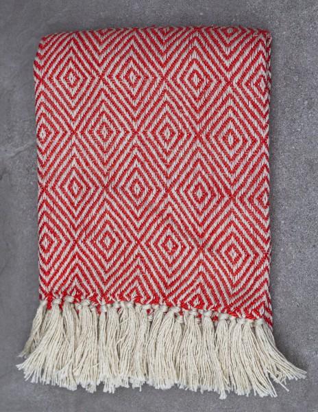 Coral Diamond Blanket