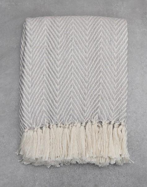 Grau Herringbone Decken