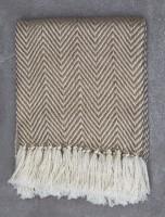 Beige Herringbone Decken
