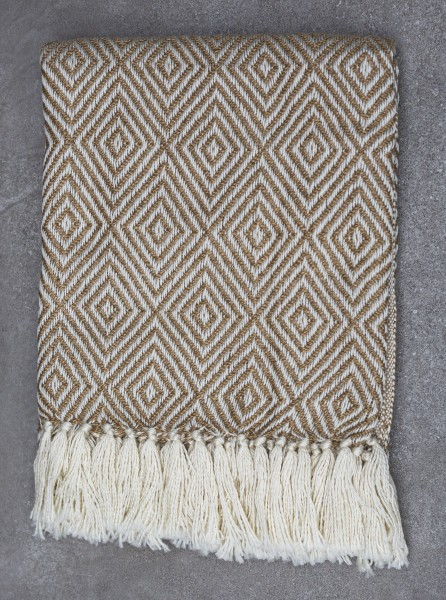 Beige Diamond Blanket